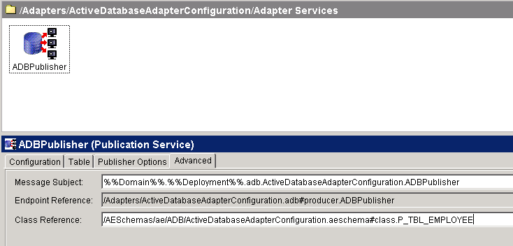 adapter service advanced setting
