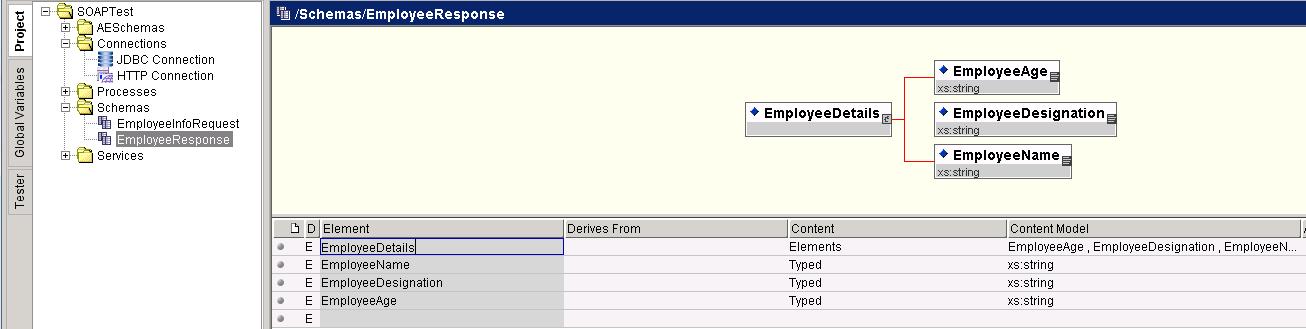 create output schema