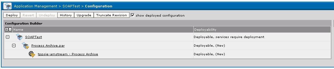 deployed configurations