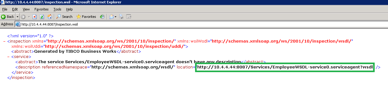 getting wsdl url of deployed service