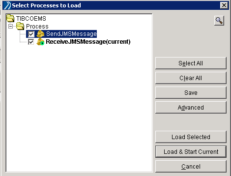 load jms processes in tester