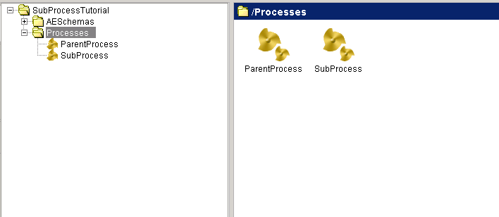 parent and sub process