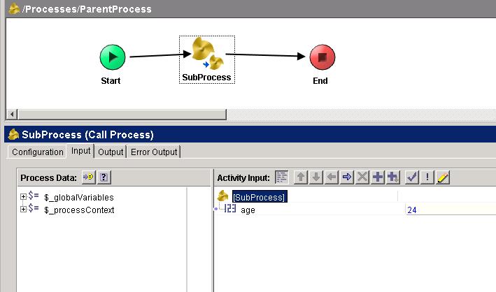 parent process input mapping