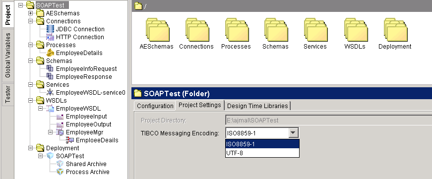 project configuration ISO and UTF