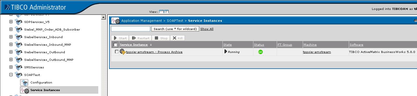 service instance status check