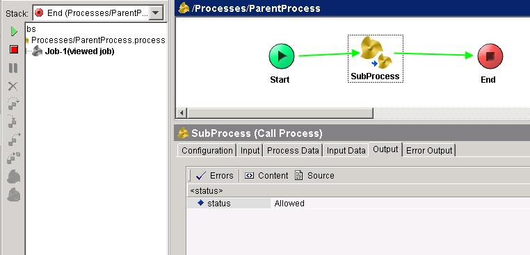 tester result parent process