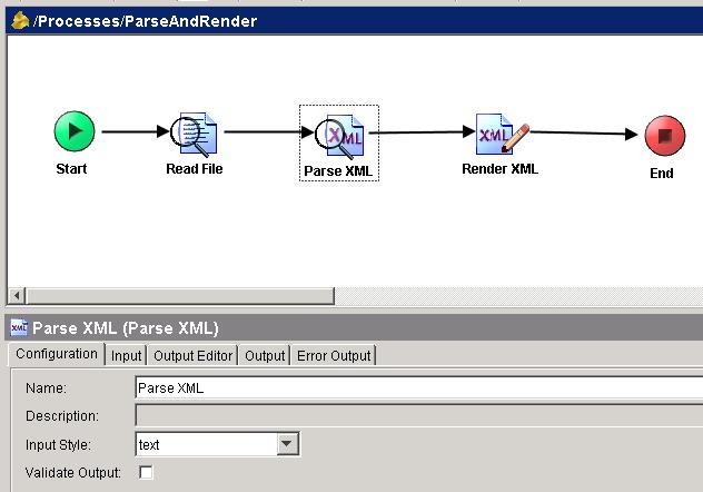 parse xml configuration