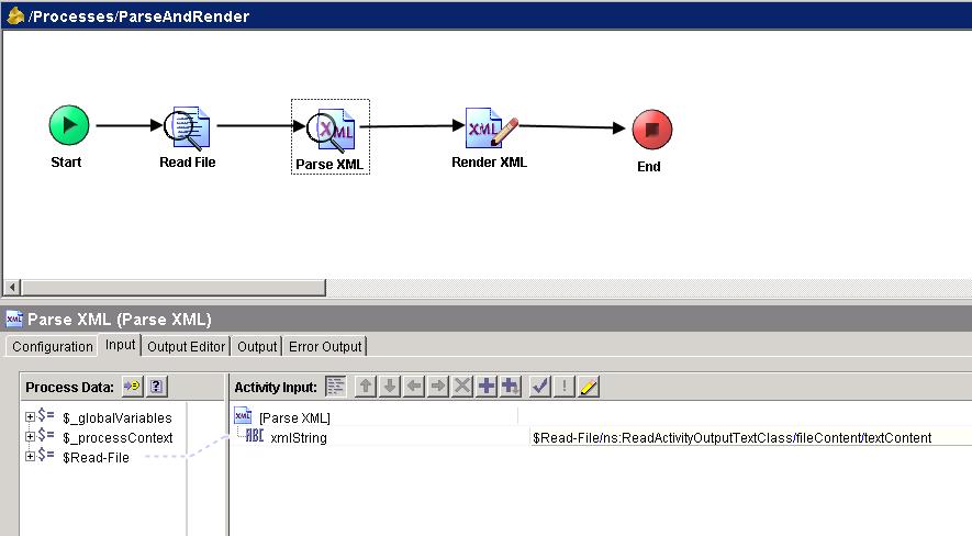 parse xml input