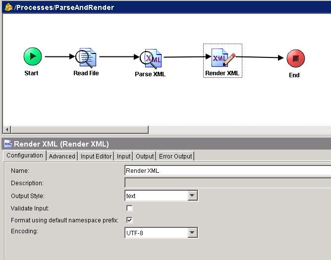 render xml configuration