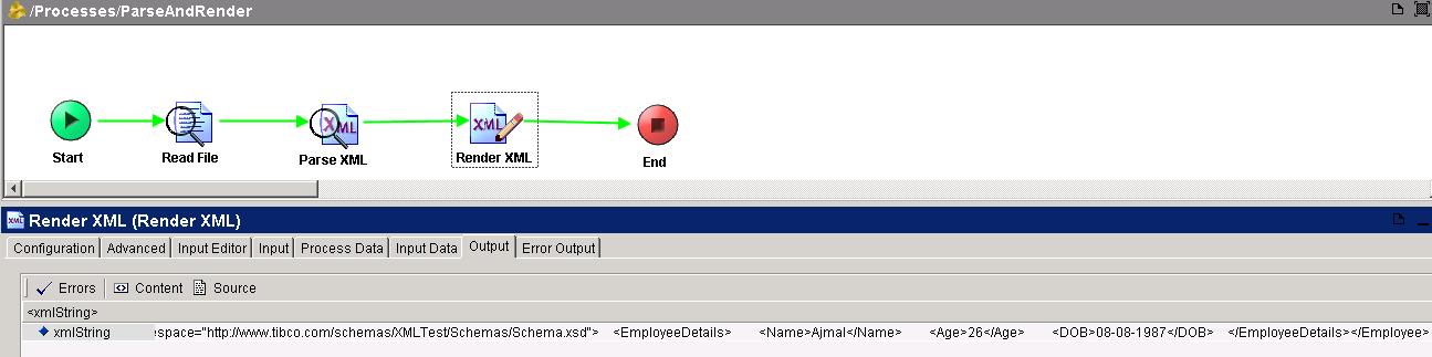 tester render xml output