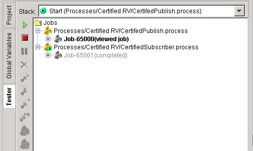 certified rv publish and subscriber processes run successfully tester