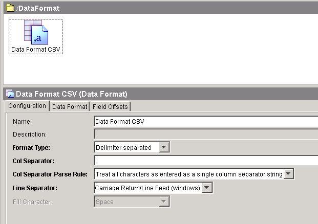 data format configuration