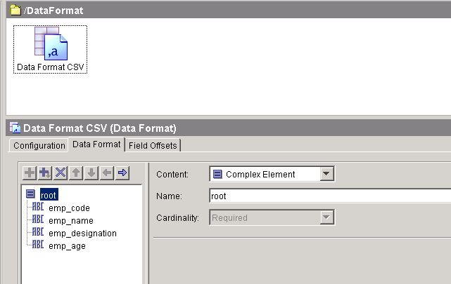 data format tab