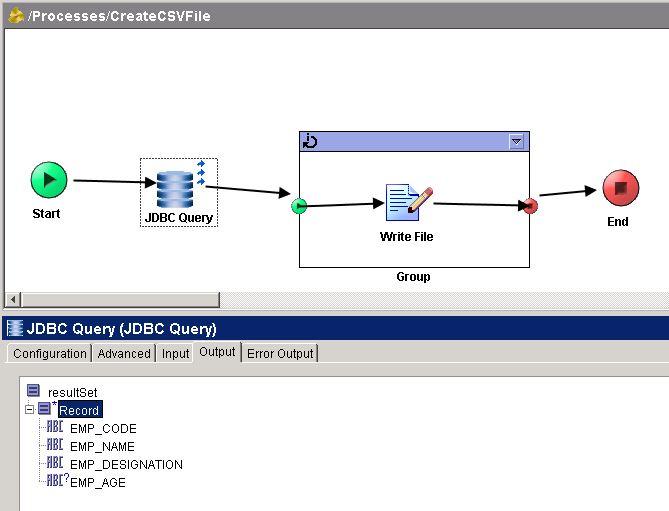 jdbc query output