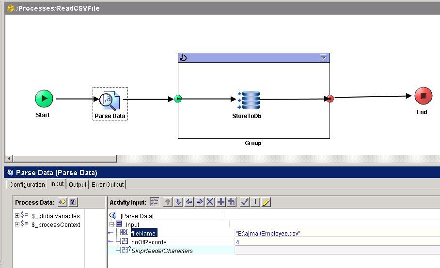 parse data input