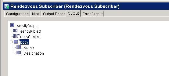 rv subscriber output