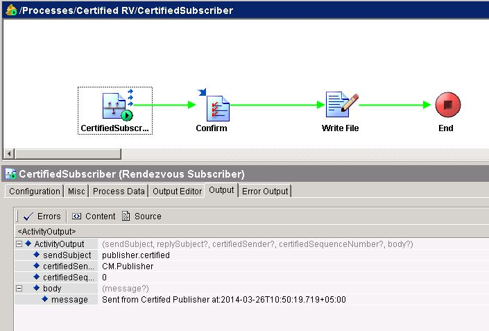 tester certified rv subscriber received data