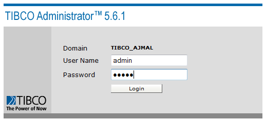 tibco domain login
