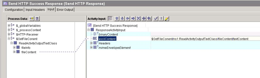 tibco http get send response input for success scenario