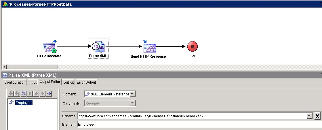 tibco http post parse xml output editor