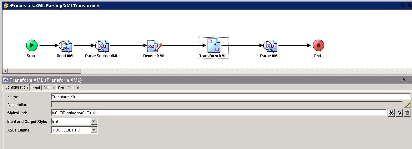tibco transform xml configuration
