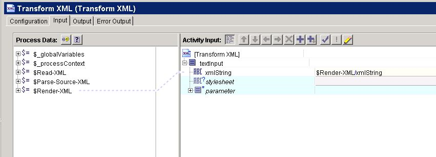 tibco transform xml input