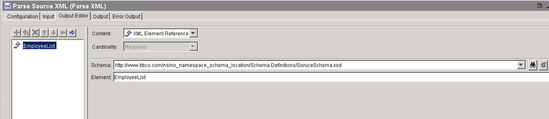 tibco xslt parse xml output editor