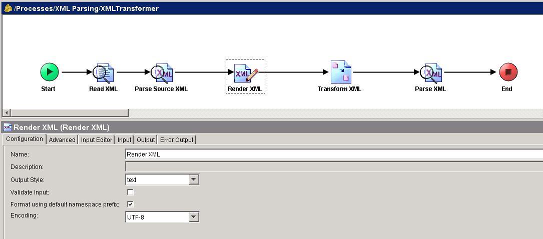 tibco xslt render xml configuration