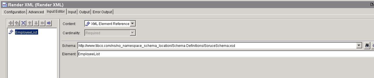 tibco xslt render xml input editor