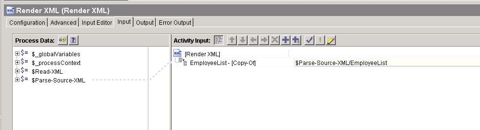 tibco xslt render xml input mapping