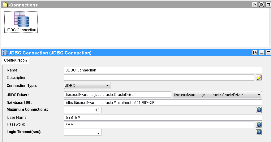 JDBC Call Procedure database connection
