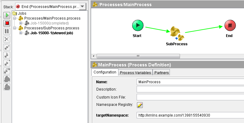 tester parallel processes in tibco