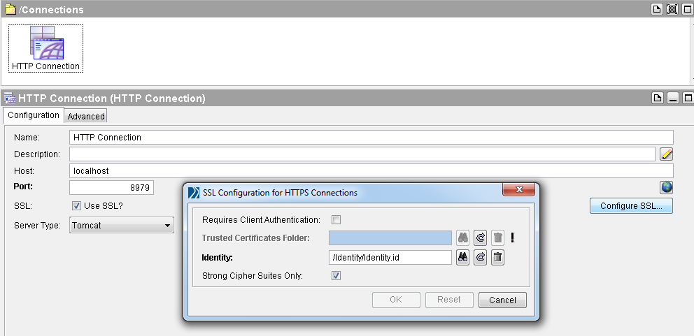tibco configure ssl for http connection