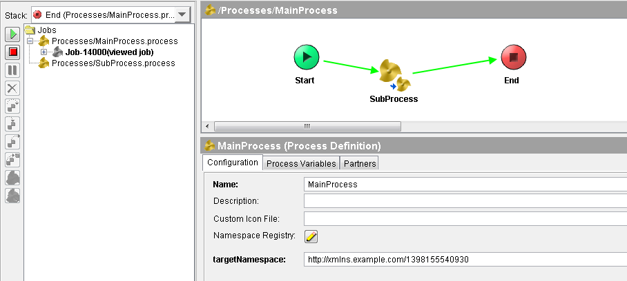 tibco sequential process running