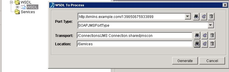 tibco soap jms create web service from wsdl