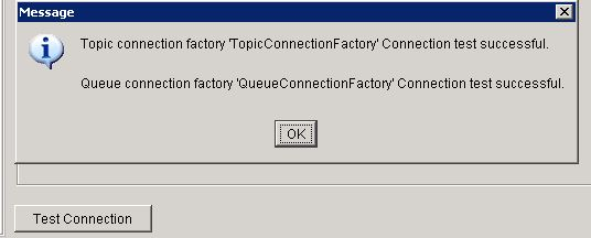 tibco soap jms test connection