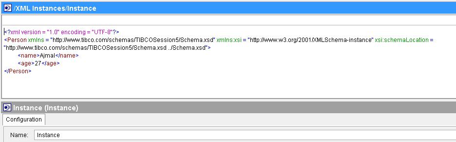 tibco xml instance source