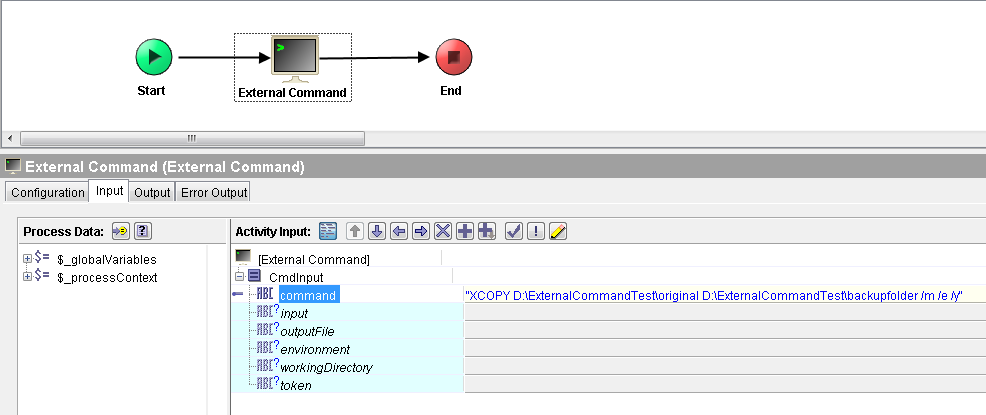 tibco run external command