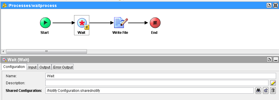 tibco wait configuration