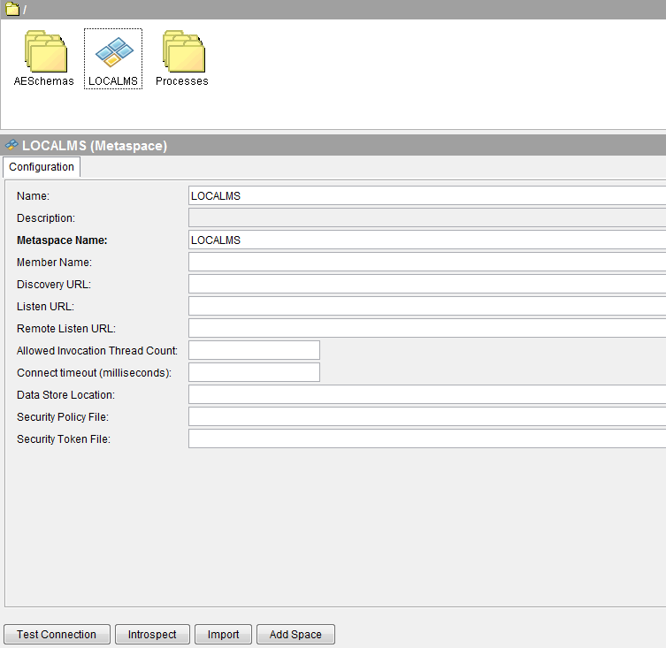 add a metaspace to tibco bw project