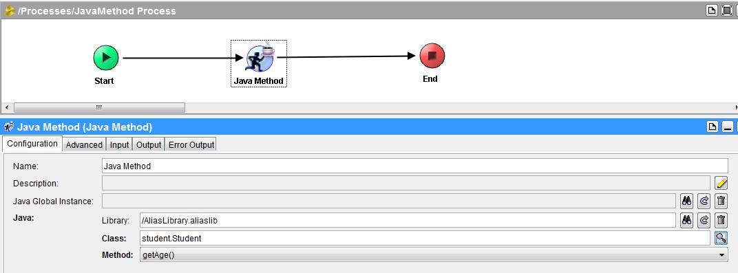 tibco java method configuration