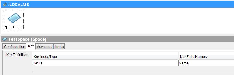 tibco space specify key