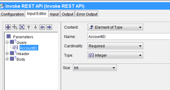 invoke rest api input parameter