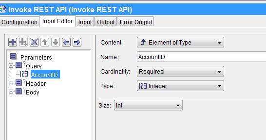 invoke rest api input parameter