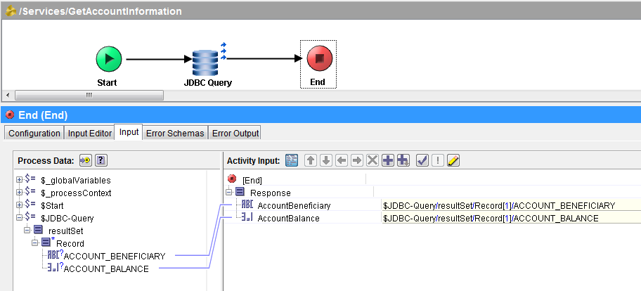 restful tibco service implementation end activity mapping