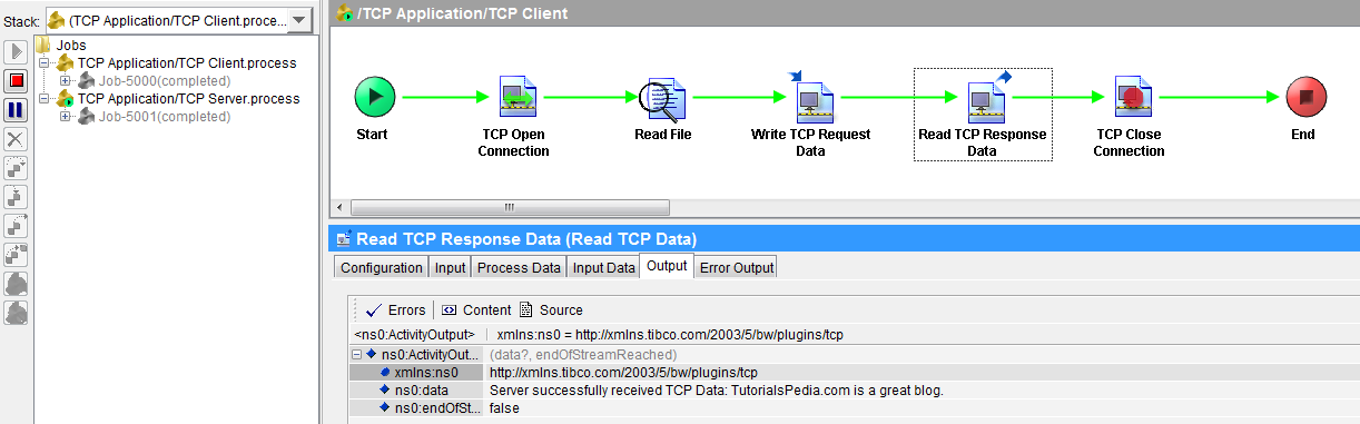 test tibco tcp