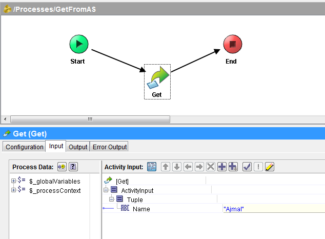 tibco activespace fetch using get activity