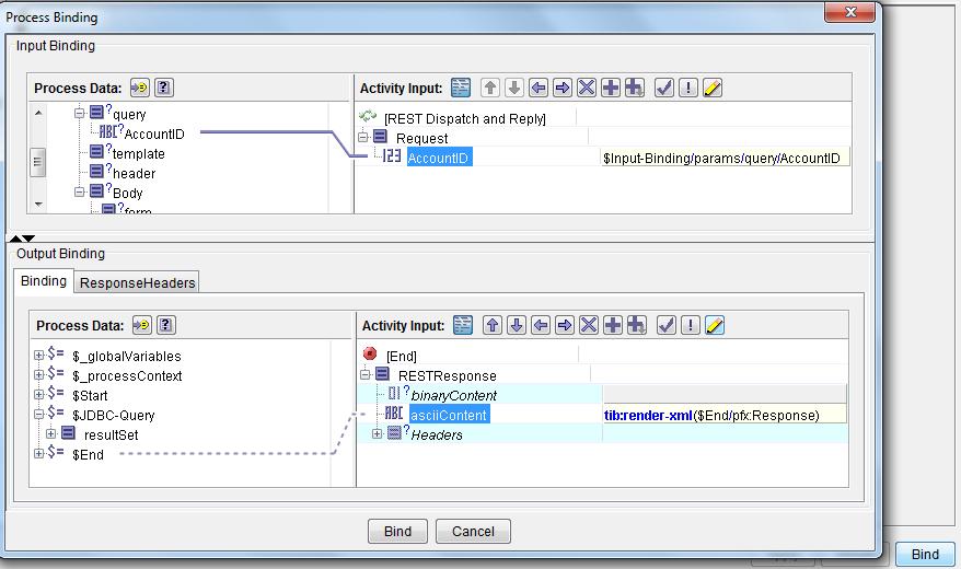tibco restful service method bind