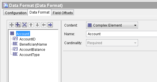 tibco text file parse data format