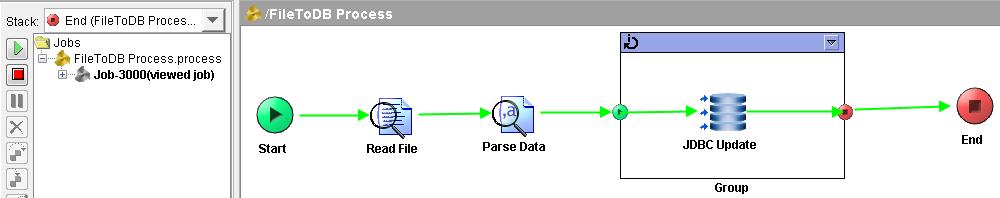 tibco text file to database designer tester
